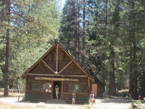 Wawona, CA: Wells Fargo and Yosemite Transportation Cabin, Pioneer Yosemite History Center, Yosemite Nationa