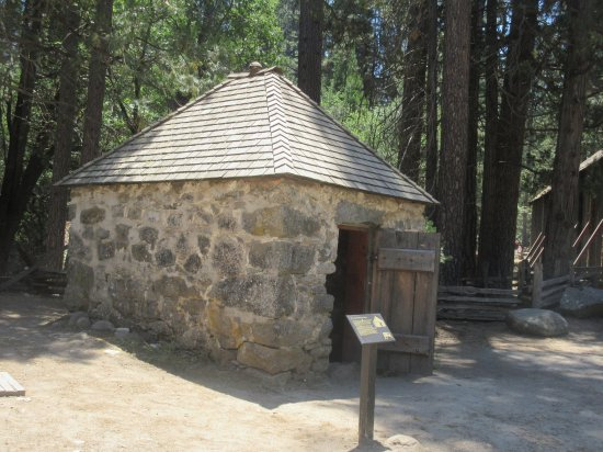 Wawona, CA: Powder House Jail, Pioneer Yosemite History Center, Yosemite National Park, CA
