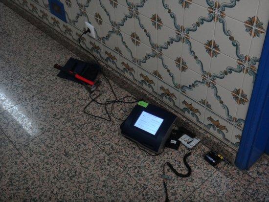 Hotel Lisboa Tejo: Dispositivo para identificar quem teria entrado no quarto.
