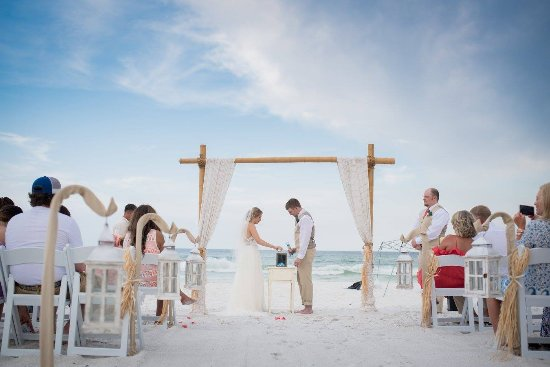 Wedding on the beach at Camp Gulf