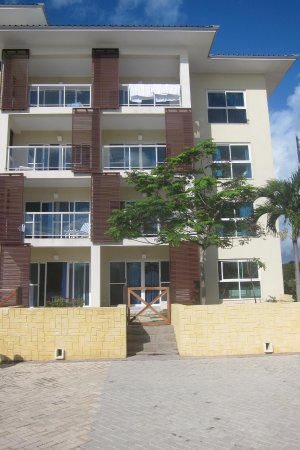apartment building, ours was the lowest level with a front gate ...