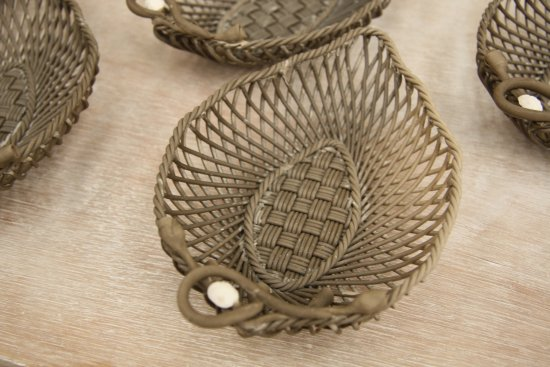 Belleek, UK: Basketweave dishes waiting to be fired.