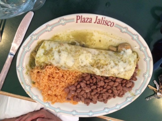 Morton, WA: Pork Burrito with beans and rice