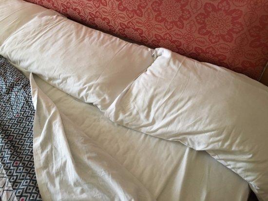 جالف هاربور لودج: I pulled back the duvet to check the bed was clean. It was, but the pillows were SAD