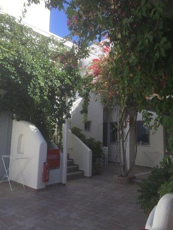 Villa Vergina: Η αυλή του ξενοδοχείου