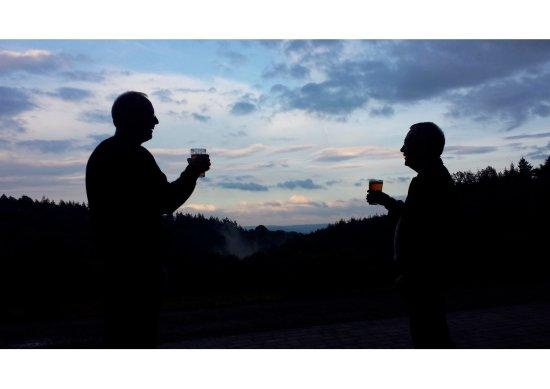 Longhope, UK: Evening at Hillside Brewery