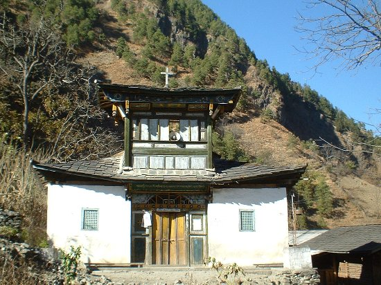 Lushui County, Chine : The church near the Dimaluo village