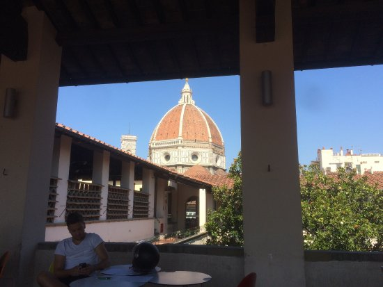 Hidden Gem Morning Coffee Looking Over The Duomo Picture