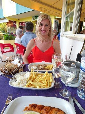 Steak meal at A Carpa