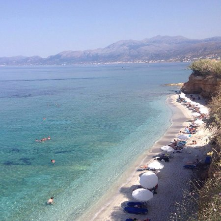 Private beach of Cosmopolis Crete Suites
