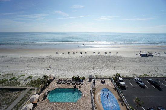 Hampton Inn Daytona Beach Beachfront View From Balcony Of Room 809