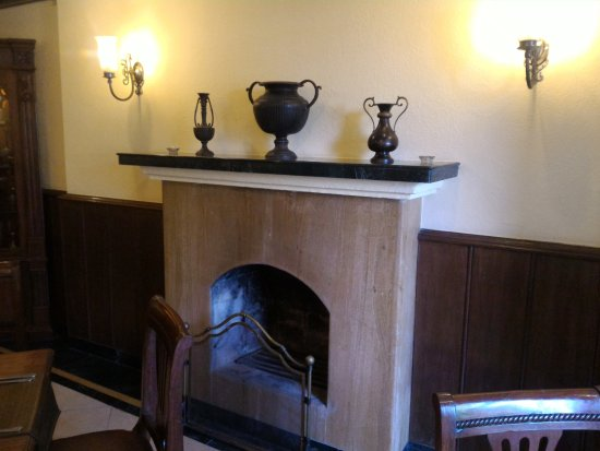 Fire place at Restaurant