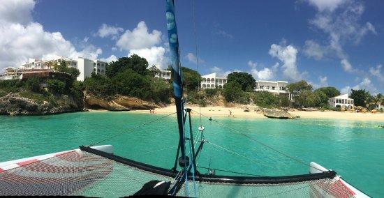 Simpson Bay, St. Maarten-St. Martin: View of Anguilla from Arawak