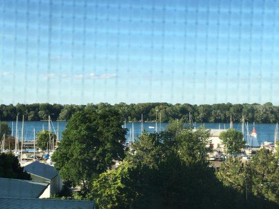 Queen's Landing: View from room 395 (pardon the screen)