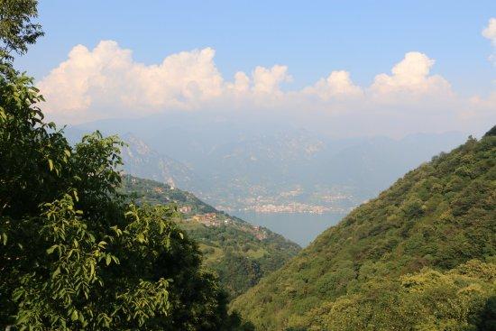 Parzanica, İtalya: View from the garden