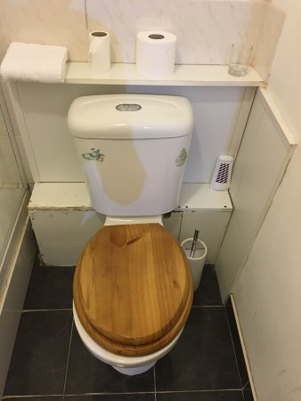 Curzon House Hotel: WHO uses wood toilet seats??????