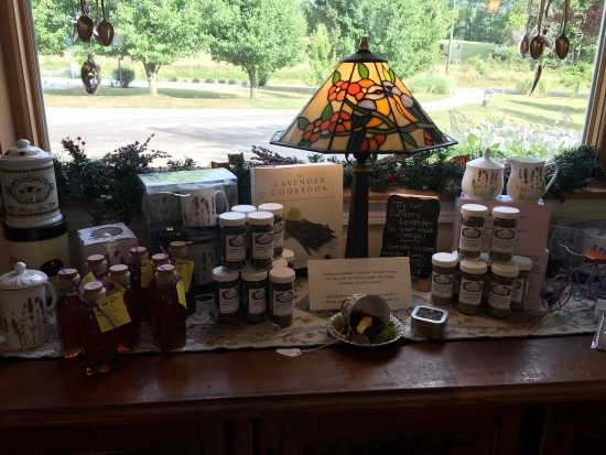 Dahlonega, Geórgia: Great products inside the store at the farm!