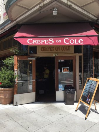 Crepes on Cole: Great corner location with indoor seating as well as outddor tables on two sides