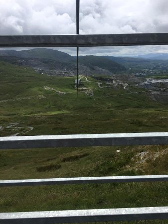 "Blaenau Ffestiniog, UK: View from the top before we ""jumped"". This is the one I got stuck on as of the wind."