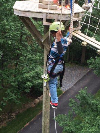 Stevens, Pensilvania: Don't look down, just do it..