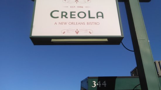 Creola: front sign