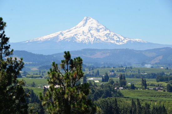 Hood River, Орегон: on a clear day it is spectacular