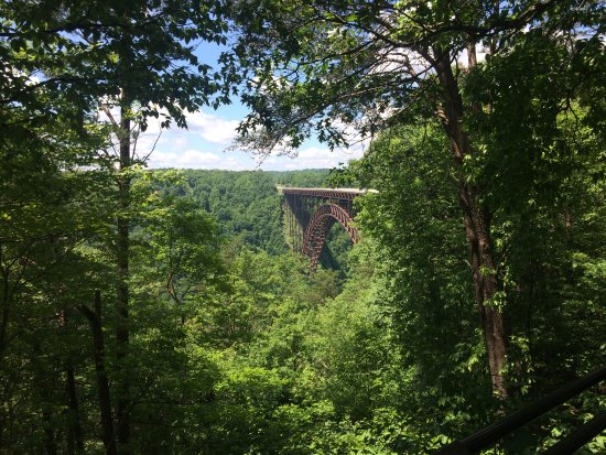 New River Gorge Bridge: If you can't make the treck down, you can still get a picturesque view just off the parking lot.