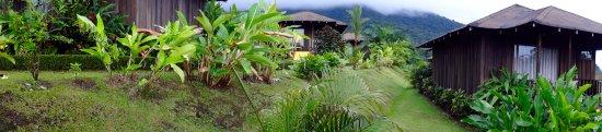 Hotel Lomas del Volcan: The cabins near the reception area.
