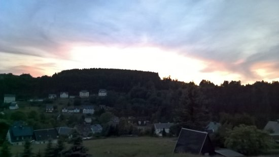 Pobershau, Germany: S0nnenuntergang vom Balkon