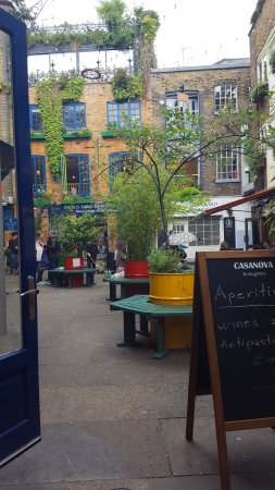 Neal's Yard: View from our table at Casanova and Daughters.