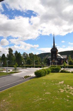 Rena, Norwegia: Utsikt fra rommet i annen etg.