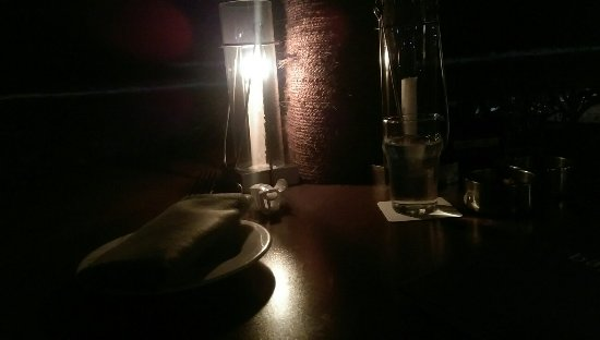 Bay View Point: Candle lit table