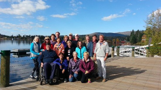 Western Riviera Lakeside Lodging & Events: A college reunion in October, 2015. This was 9 am, look how beautiful it was !!!