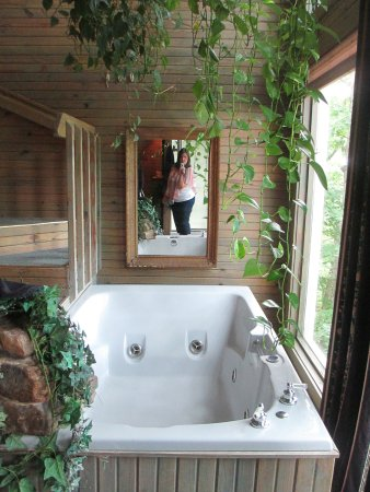 Bonnybrooke Farm: Love the tub. There is also a shower open to the window on the other side.