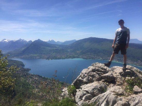 Haute-Savoie, Frankrike: Massifs du Bauges from Mont Veyrier