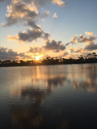 Cape San Blas Inn : Gorgeous sunrise from the bayside dock at the back of the inn. Breathtaking!