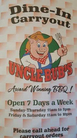 Westmont, IL: Uncle Bub's BBQ