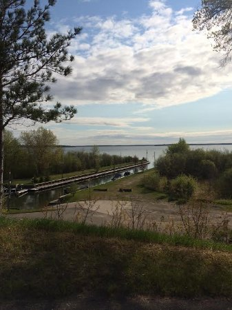 Cass Lake, MN: View from the hill
