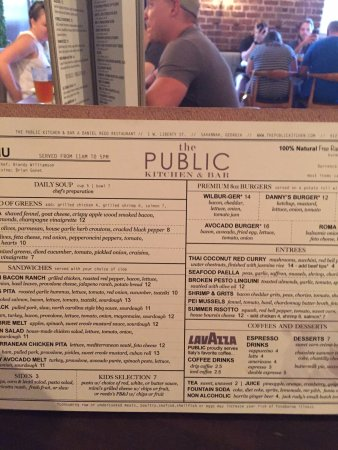 Menu at The Public Kitchen & Bar - Picture of The Public Kitchen ...