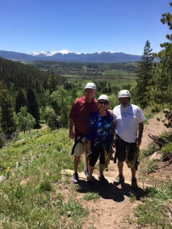 Tabernash, CO: Walking between zip lines
