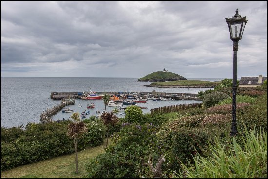 Quality Hotel & Leisure Center Youghal: Ballycotton Harbour & Lighthouse in the distance