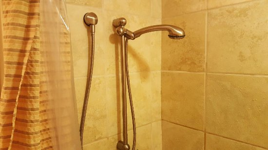 Donnelly, ID: Nice shower head, to bad it doesn't stay up.