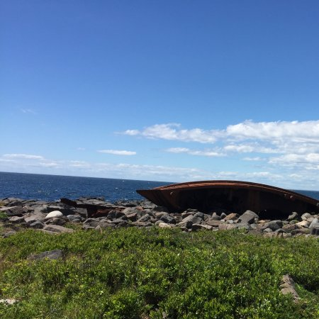 Monhegan Island, ME: This is the remains of a 100ft boat that was tossed a shore in a hurricane long ago.