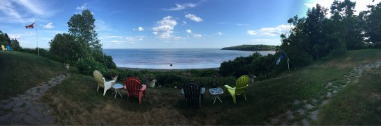 Beautiful view of Bay of Fundy from the Weir Inn.