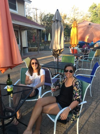 Winery on the Gruene: outside seating