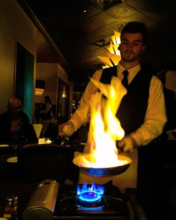 The Woodlands, TX: Bananas Foster prepared tableside