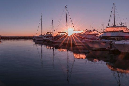 Corlette, Australia: Sunrise over the marina