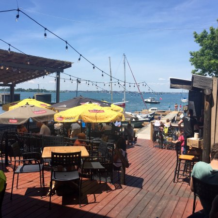 Wolfe Island Grill: Patio On Dock/water Front.