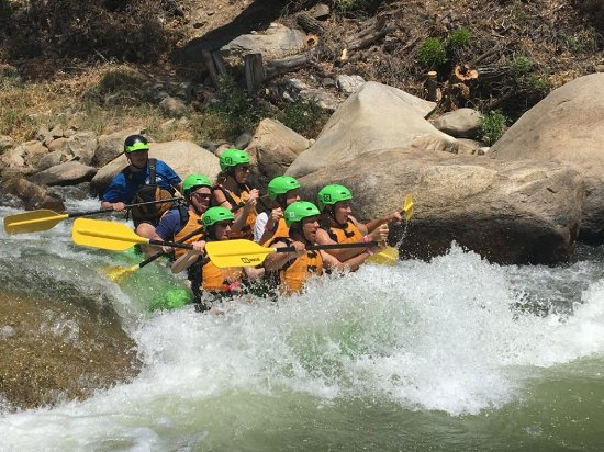 SoCal Rafting: This is me riding a class 3 rapid. Much fun!