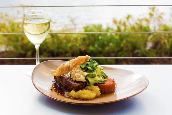 Alexandra Headland, Australia: 12 Hour Slow Roast Pork Scotch, sweet potato fondant, apple cider chutney, zucchini, pork cracke